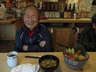 お寿司を食べて菊祭り