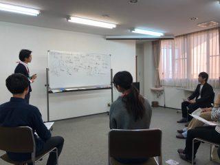 先輩職員と事例検討&食事会