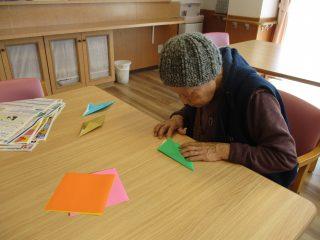 折り紙の静かな時間